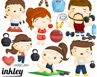 Fitness Clipart, Fitness Clip Art, Fitness Png, Weightlifting Clipart, Healthy Clipart, Sport Clipart, Exercise Clipart, Gymnastic Clipart