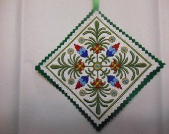 Polish Christmas Ornament, Embroidered Ornament, Christmas Gift, Fabric and Felt Ornament, Holiday Decor, Polish Decoration, Made to Order