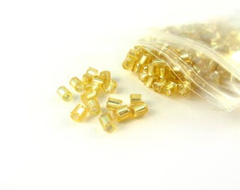 Bag of 50 g of gold-plated tube beads