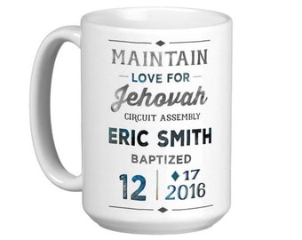 JW Baptism-Personalized Coffee Mug - jw gifts - jw ministry - jw pioneer gifts - best life ever - jw pioneer