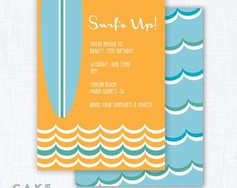 Surf Party Invitation Printable