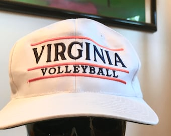 Vintage Virginia Volleyball Snapback Hat The Game OS MLB baseball hat Made in Taiwan ROC 1980's 1990's