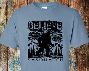Sasquatch t shirt - Bigfoot shirt - Believe in Bigfoot T-shirt - Big foot gift – Sasquatch tee shirt