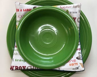 Denim Plus Chili Print Bowl Cozy Set of 2