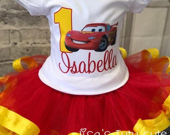 cars birthday, card birthday outfit, lightning mcqueen shirt, lightning mcqueen tutu, lightning mcqueen birthday outfit, cars birthday shirt