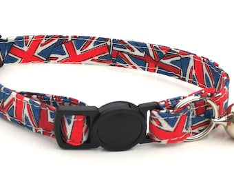Red, White and Blue Union Jack design - quick release safety clasp - Royal Wedding