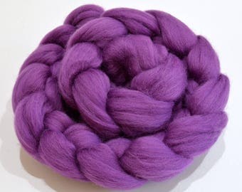 Merino Wool Combed Top - Violet - Spinning - 100 grams