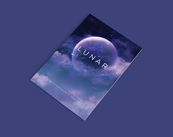 Lunar Artbook // Selected Illustrations Volume 1 by Sugarmints, Concept Art Book, Illustrated Art Book, Scenery Art Book