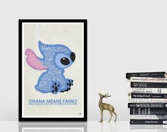 Lilo and Stitch Quote Poster