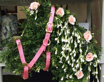 Pink Rose Horse Head Equestrian Floral Wreath for Home or Wedding Kentuck Derby