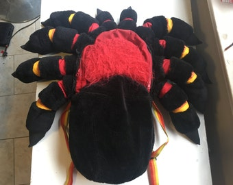 Mexican Red Knee Tarantula Backpack Medium Mexican Red Knee Tarantula Spider, knapsack, rugged, furry, plush, water resistant, hand made
