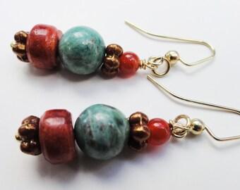 Boho Earrings, Bohemian Earrngs, Tribal Earrings, Ethnic Earrings, Boho Earrings, Festival Earrings, World Jewelry