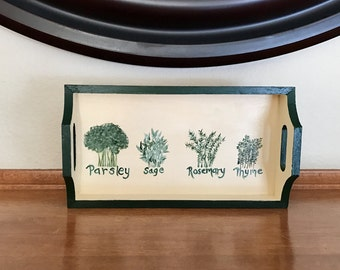 Herb design small tray