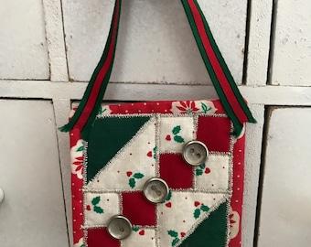 Mini quilt block ornament