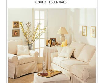 Sewing Pattern for Furniture Slipcovers, Tablecloth and Pillows, McCall's Pattern 3278,  Sofa Slipcovers, Chair Slipcovers, Ottoman Cover