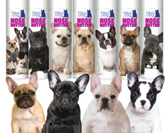 French Bulldog Original Nose Butter® Handcrafted Balm for Rough, Dry, Irritated Dog Noses .50 oz. Tube Your Choice of Seven Frenchie Labels