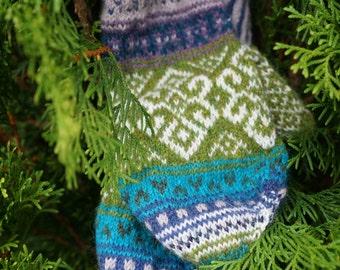 Fall's Hope Fair Isle Mittens Knitting Pattern
