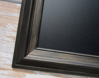 "MODERN FRAMED CHALKBOARD For Sale 29""x25"" Oil Rubbed Bronze Black Magnetic Urban Framed Chalk board Office Unique Newlywed New Home Gift"