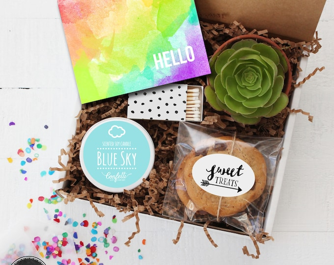 Hello Gift Box - Thinking of You Gift | Thank You Gift | Friend Gift | Miss You Gift | Get Well Gift