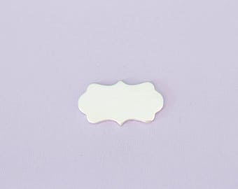"Small 1.28""(32.51mm) Scalloped Plaque - Aluminum Stamping Blanks - Metal Stamping Blanks - 14g - #57"
