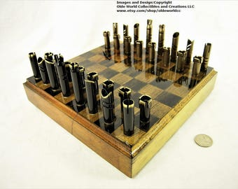 30-06  Bullet shell chess pieces and Optional Ash wood board #1020160013- Free Shipping to U.S.