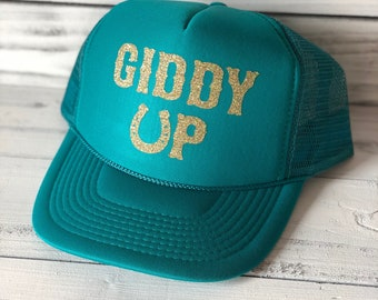Giddy Up Cute Country Cowgirl Trucker Hat