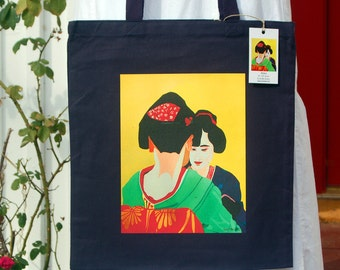 Sisters Geisha Tote Bag