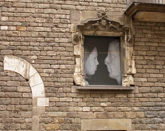 Window Art, Barcelona print, architectural print, Gallery Wall, rustic wall décor, travel photography, Fine Art Print