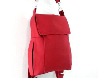 Canvas Bag Cotton bag diaper bag Shoulder bag Hobo bag Tote bag Messenger bag Purse Backpack Everyday bag  Red  Susie