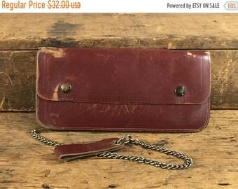 SALE Vintage Mens Leather Chain Wallet, Wallet with Chain, Biker Wallet, Worn Wallet, Leather Wallet, Men's Wallet, Brown Wallet, Wallet Cha