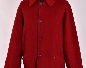 Men's Paul & Shark Moessmer Wool Quilted Casual Coat Jacket Size L Genuine