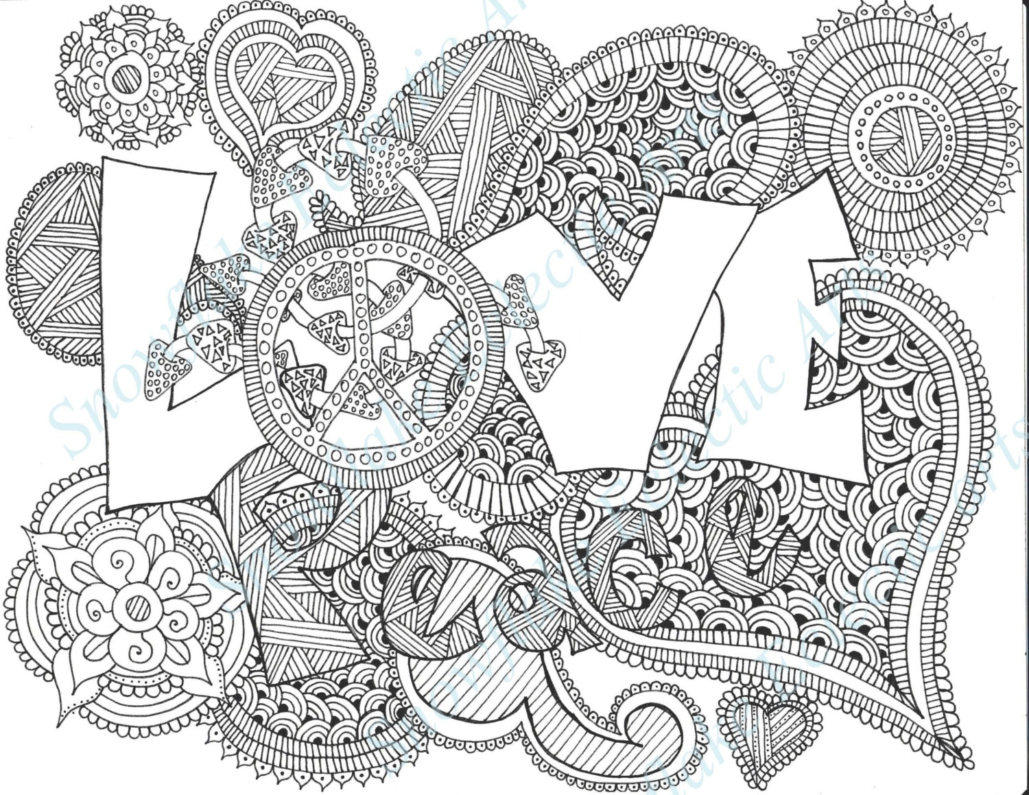DIY COLORING Page Instant PDF Digital Download Printable