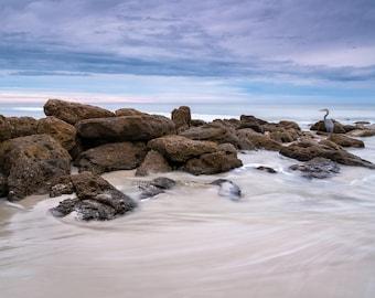 Canvas Beach Art - Marineland Photo Print - Ocean Photograph - Beach Picture - Beach Artwork Metal Print - Beach Decor - Large Wall Art