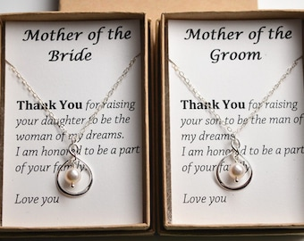 Mother of The Bride-Mother of the Groom-Mother wedding gift-Silver infinity pearl necklace-Wedding jewelry-Gifts for stepmom-Mother in law