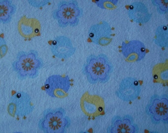 Doves Blue Flannel Fabric by the yard