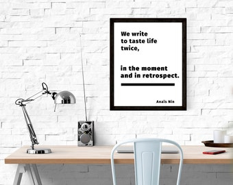 Digital Print, Writer Print, Writer Gifts, Printable Quote, Teacher Gift, Gifts for Writers, Writing Teacher Gift, Minimalist Poster
