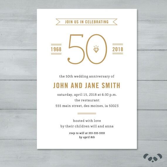Anniversary Party Invitation Wedding Anniversary Party