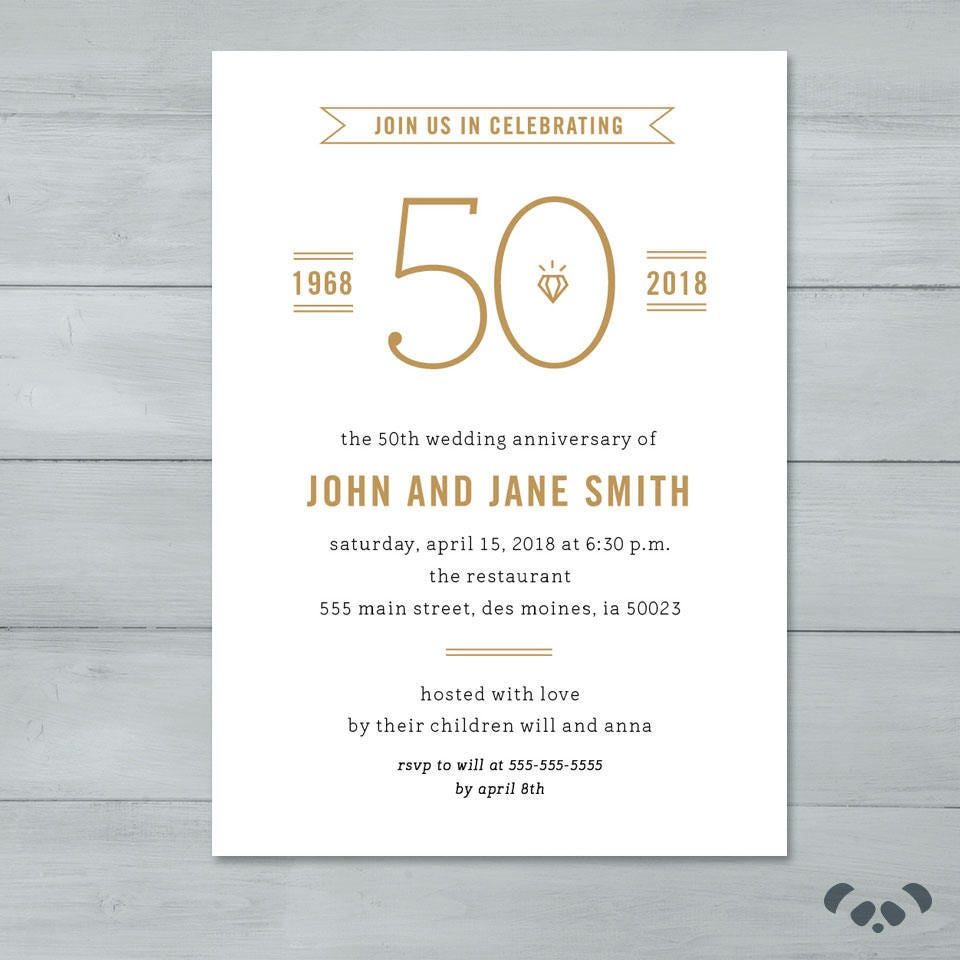 Anniversary party invitation wedding anniversary party zoom stopboris Image collections