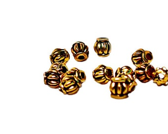 Golden Pixies- pewter spacer beads