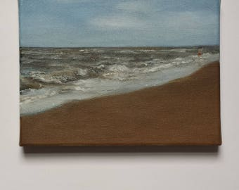 Seascape with person