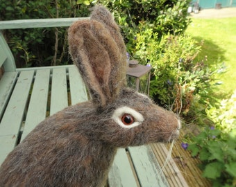 needle felted Hare...Now Sold