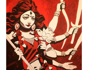 Durga - Fine Art Mini Print