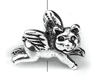 Adorable Flying Pig Beads - Package of 20