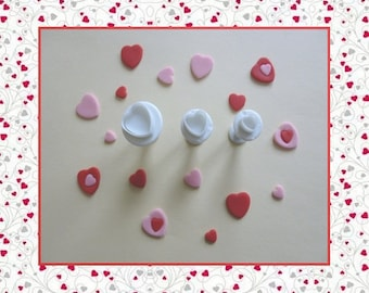"""Ejector cutter: """"Heart"""" - set of 3 different sizes."""