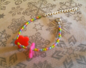 colorful bracelet, original (white and multicolor)