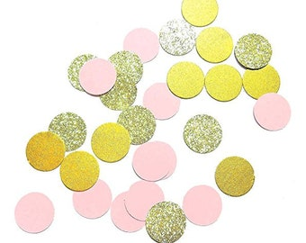 Confetti glitter round gold wedding party Table decor