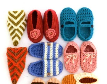Crochet and Knit Handmade Lovely Room Shoes by Sachiyo Fukao - Japanese Craft Book