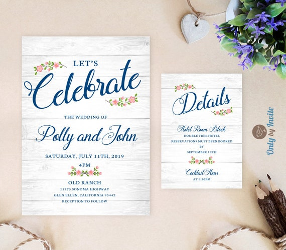 Budget wedding invitations packs with additional details cards filmwisefo