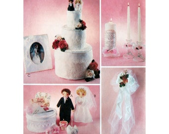 Bridal Shower Ideas, Pattern, McCall's 2725, UNCUT, Towel Wedding Cake, Cake Topper, Wedding Crafts, Bride and Groom