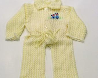 Vintage Baby Knit Suit